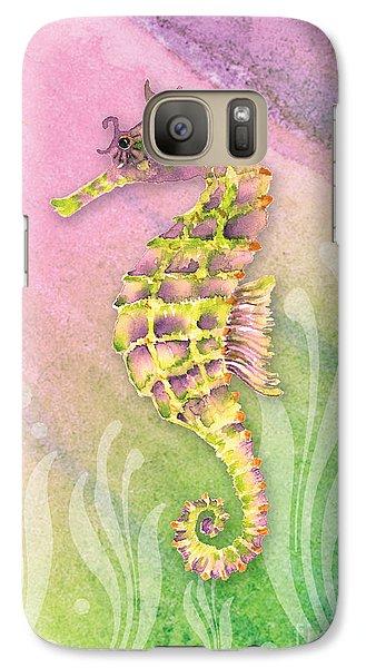 Seahorse Violet Galaxy S7 Case by Amy Kirkpatrick