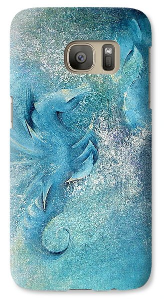 Galaxy Case featuring the painting Seahorses In Love 1 by Dina Dargo