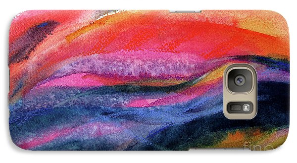 Galaxy Case featuring the painting Seams Of Color by Kathy Braud