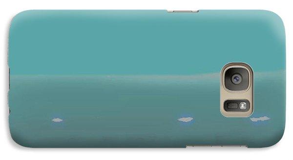 Galaxy Case featuring the digital art Sea.night.no Moon. by Dr Loifer Vladimir