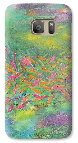 Galaxy Case featuring the painting Searching by Lyn Olsen