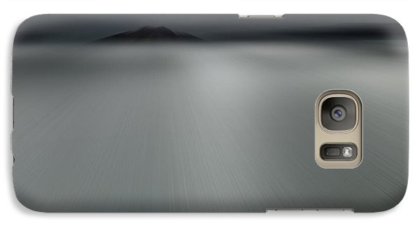 Galaxy Case featuring the photograph Seascape Mono by Craig B