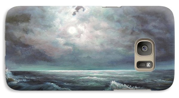 Galaxy Case featuring the painting Moonlit  by Luczay