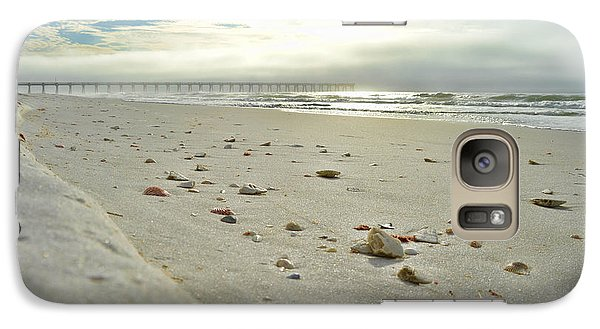 Galaxy Case featuring the photograph Seashells On The Seashore by Renee Hardison