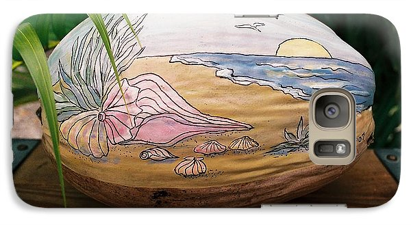 Galaxy Case featuring the mixed media Seashore by Nancy Taylor