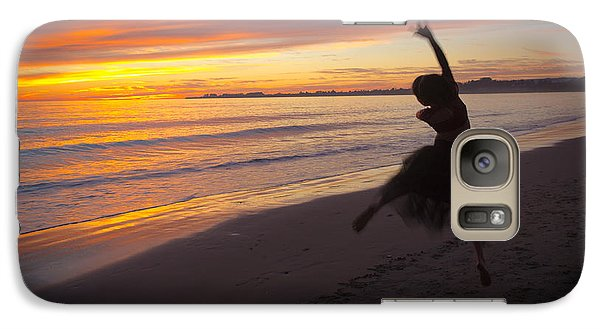 Galaxy Case featuring the photograph Seaside Dancer by Lora Lee Chapman