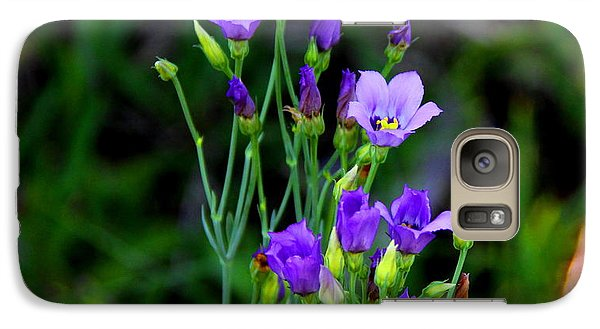 Galaxy Case featuring the photograph Seaside Gentian Wildflower  by Barbara Bowen