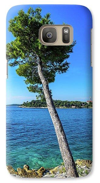 Seaside Leaning Tree In Rovinj, Croatia Galaxy S7 Case