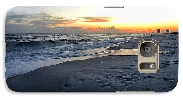 Galaxy Case featuring the photograph Seaside Sunset by Renee Hardison