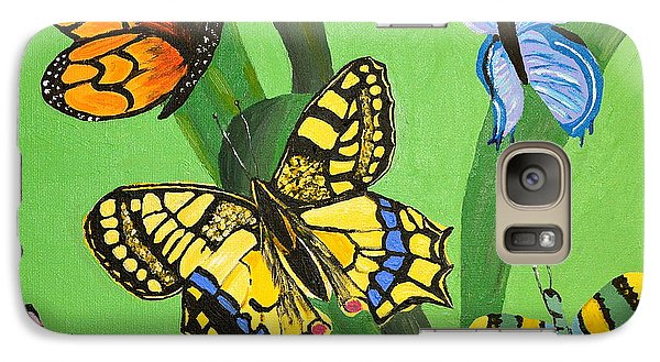 Galaxy Case featuring the painting Season Of Butterflies by Donna Blossom