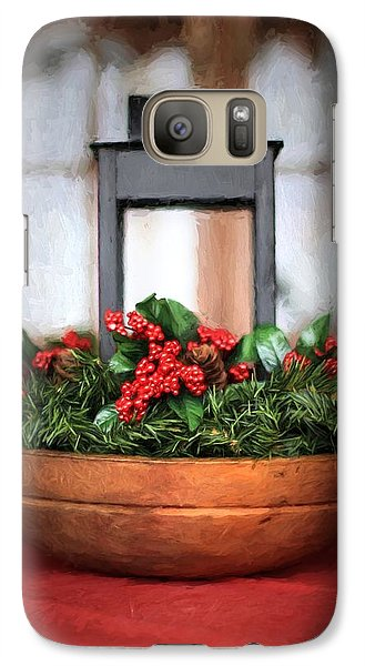 Galaxy Case featuring the photograph Seasons Greetings Christmas Centerpiece by Shelley Neff