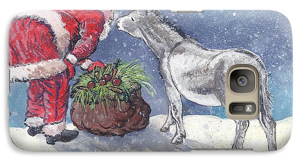Galaxy Case featuring the painting Season's Greetings by Dawn Senior-Trask