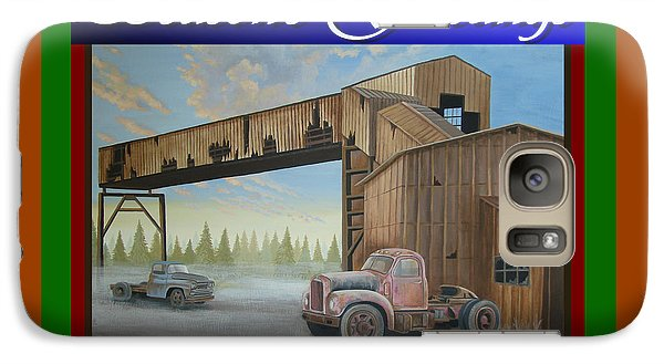 Galaxy Case featuring the painting Season's Greetings Old Mine by Stuart Swartz