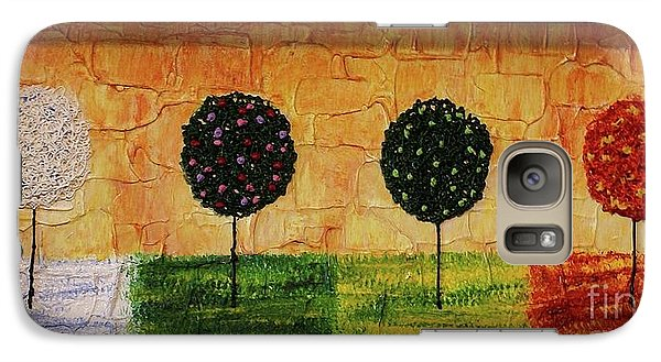 Galaxy Case featuring the painting Seasons Of Love by Jane Chesnut