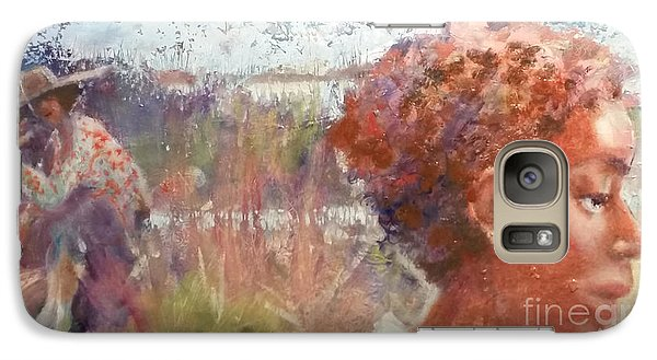 Galaxy Case featuring the painting Seasons Of Sweetgrass by Gertrude Palmer