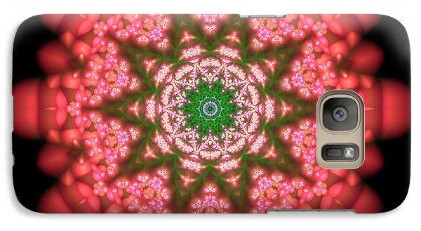 Galaxy Case featuring the digital art Seastar Lightmandala  by Robert Thalmeier