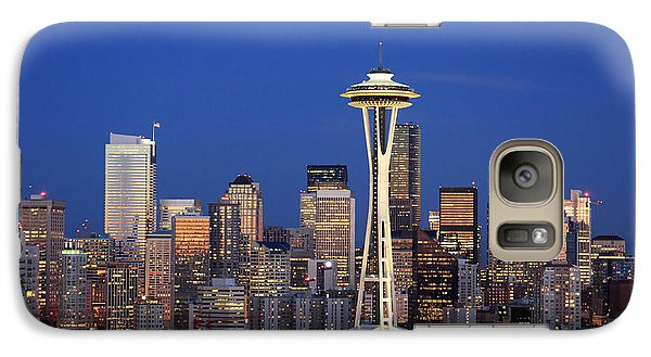 Seattle At Dusk Galaxy S7 Case by Adam Romanowicz