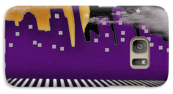 Galaxy Case featuring the digital art Seattle Skyline by Digital Art Cafe