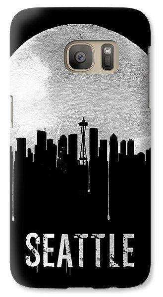 Seattle Skyline Black Galaxy S7 Case