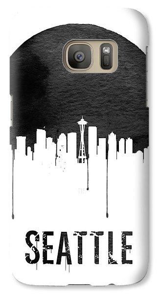 Seattle Skyline White Galaxy S7 Case