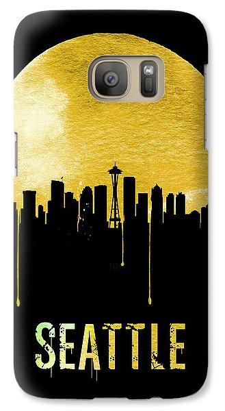 Seattle Skyline Yellow Galaxy S7 Case