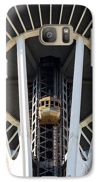 Galaxy Case featuring the photograph Seattle Space Needle Elevator by Chris Dutton