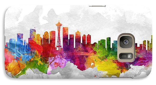 Seattle Washington Cityscape 13 Galaxy S7 Case by Aged Pixel