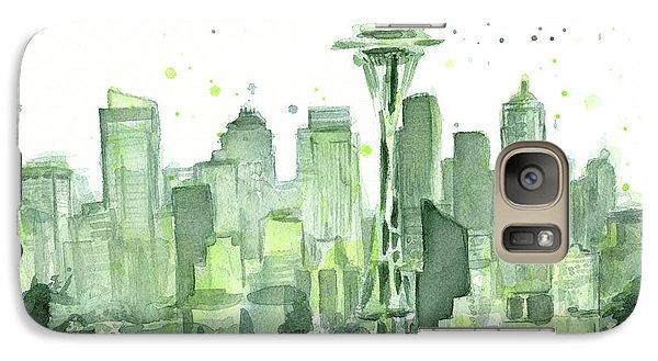 Seattle Galaxy S7 Case - Seattle Watercolor by Olga Shvartsur