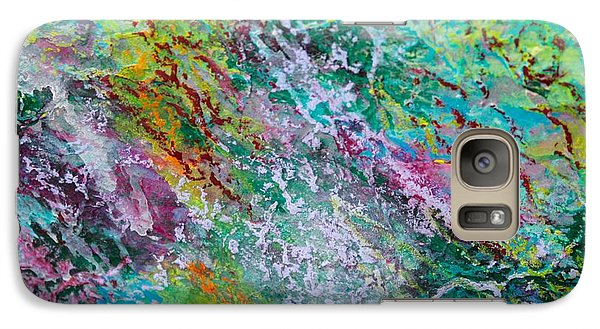 Galaxy Case featuring the photograph Seaweed And Spray Color Poem by Polly Castor