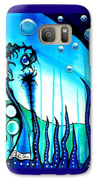 Galaxy Case featuring the painting Seaweed - Art By Dora Hathazi Mendes by Dora Hathazi Mendes