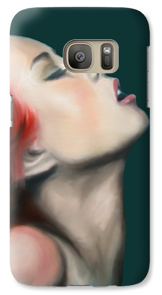 Galaxy Case featuring the painting Secret Darling by Jindra Noewi