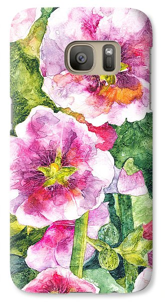 Galaxy Case featuring the painting Secret Garden by Casey Rasmussen White