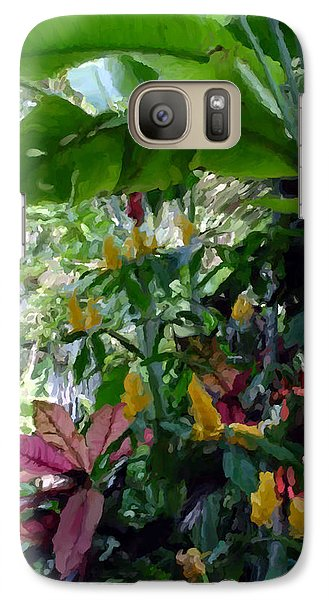 Galaxy Case featuring the painting Secret Garden Cat by David  Van Hulst