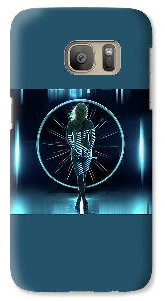 Galaxy Case featuring the photograph Secret Hangar by Dario Infini