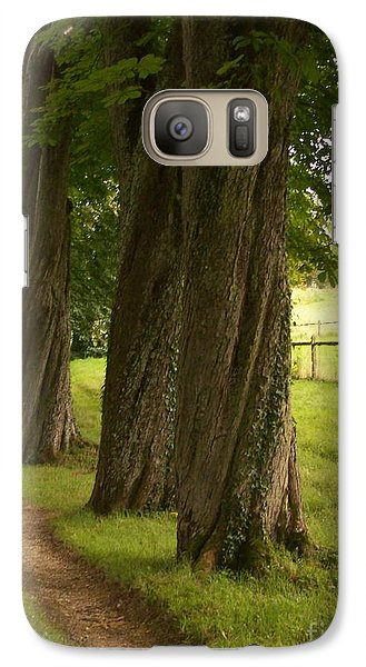 Galaxy Case featuring the photograph Secret Path by Mary Mikawoz