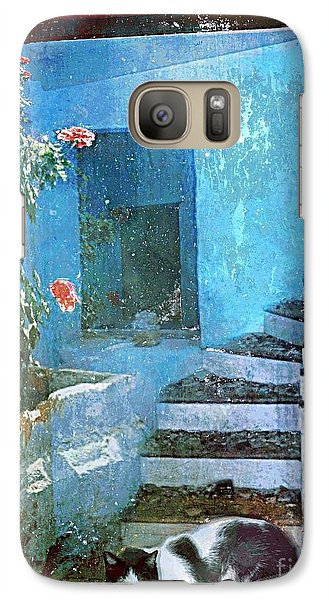 Galaxy Case featuring the digital art Secret Space by Alexis Rotella