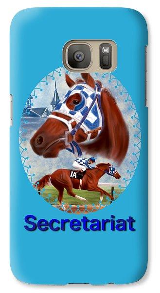 Secretariat Racehorse Portrait Galaxy S7 Case