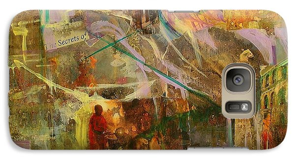 Galaxy Case featuring the mixed media Secrets by Mary Schiros