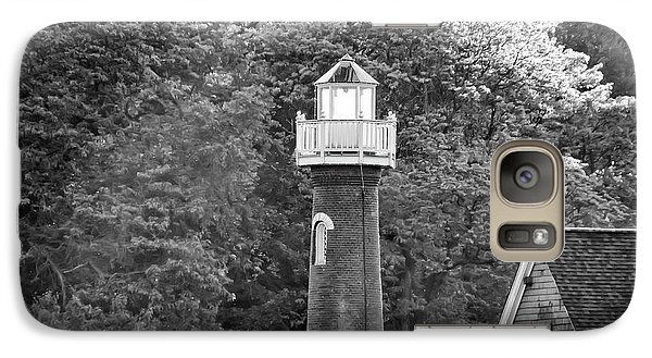 Galaxy Case featuring the photograph Sedgely Club - Turtle Rock Lighthouse by Bill Cannon