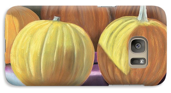 Galaxy Case featuring the pastel Sedillo Pumpkins by Jan Amiss