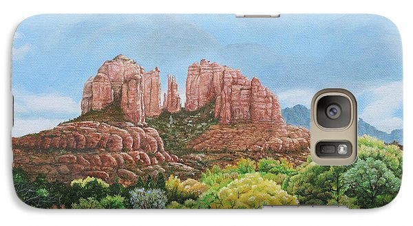 Galaxy Case featuring the painting Sedona Az by Mike Ivey