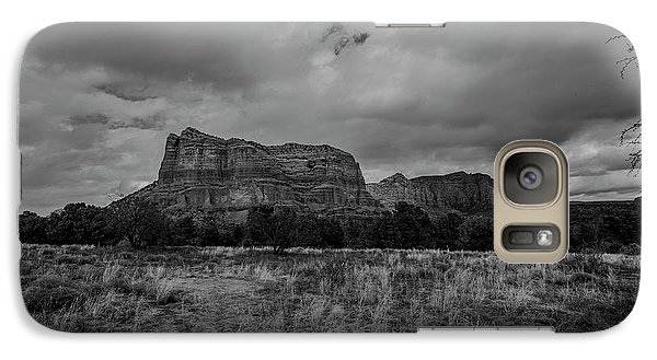 Galaxy Case featuring the photograph Sedona Red Rock Country Arizona Bnw 0177 by David Haskett