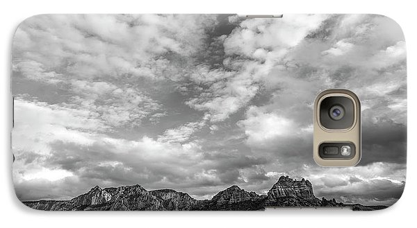 Galaxy Case featuring the photograph Sedona Red Rock Country Bnw Arizona Landscape 0986 by David Haskett