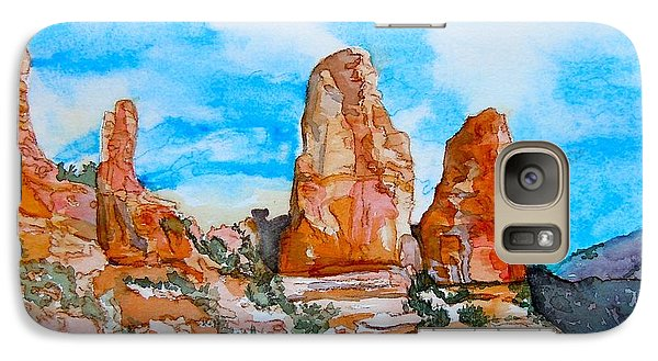 Galaxy Case featuring the painting Sedona Red Rocks by Sharon Mick