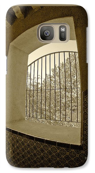 Galaxy Case featuring the photograph Sedona Series - Through The Window by Ben and Raisa Gertsberg