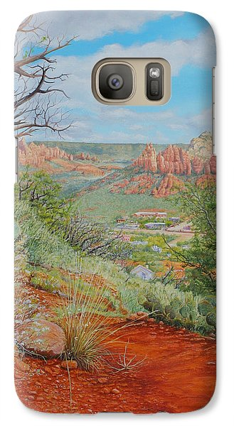 Galaxy Case featuring the painting Sedona Trail by Mike Ivey