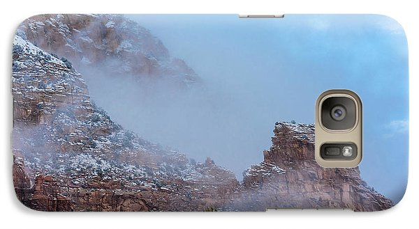 Galaxy Case featuring the photograph Sedona Winter by Sandra Bronstein