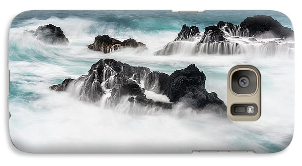 Galaxy Case featuring the photograph Seduced By Waves by Jon Glaser