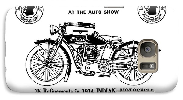 Galaxy Case featuring the mixed media See New 1914 Indian Motocycle At The Auto Show by Daniel Hagerman