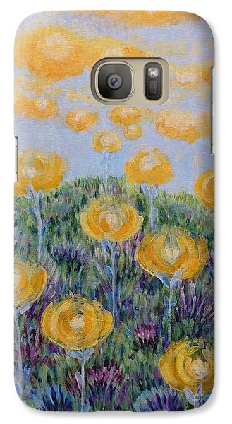 Galaxy Case featuring the painting Seeing Through by Holly Carmichael